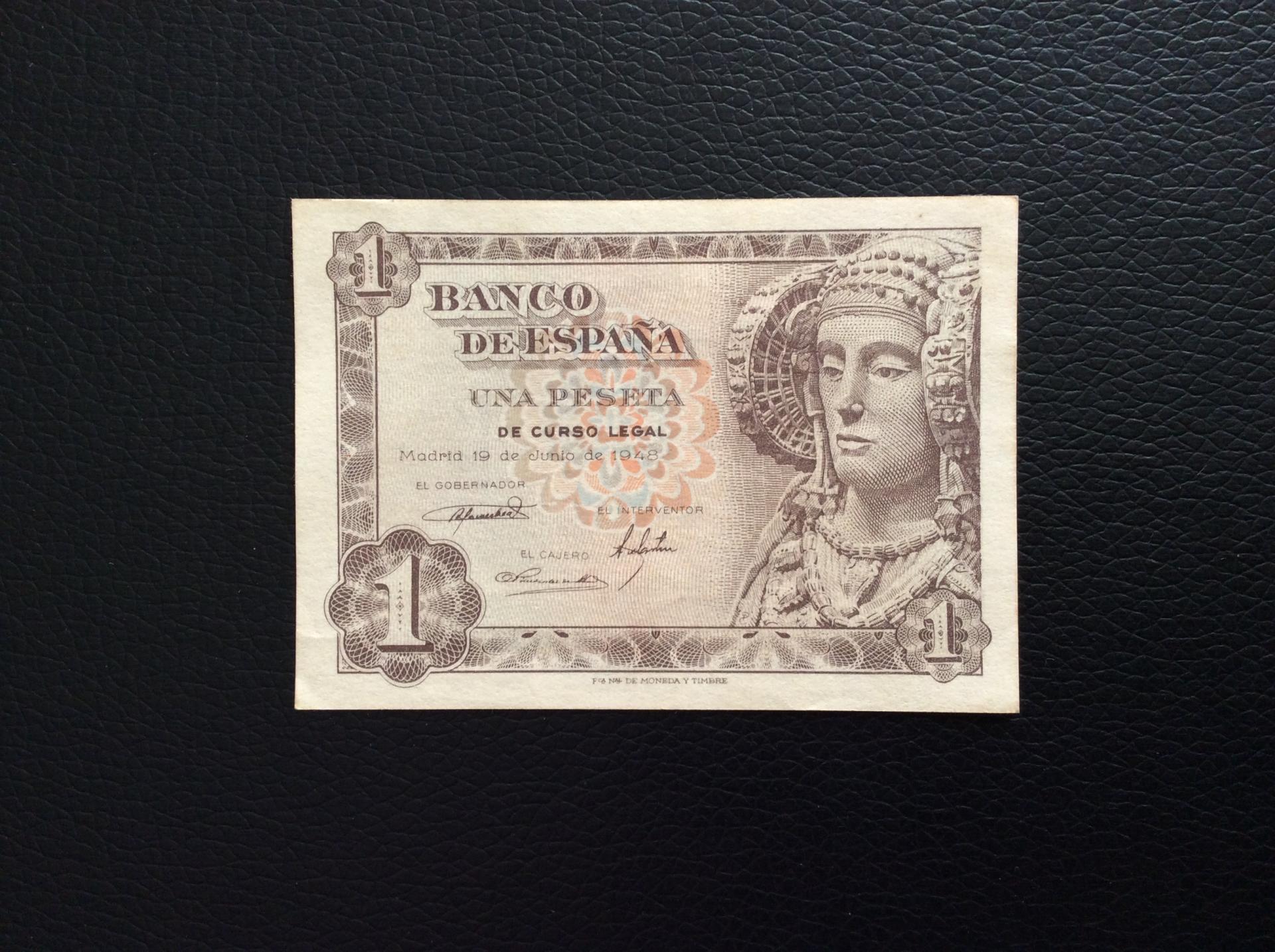 1 PESETA 1948 - DAMA DE ELCHE - SIN CIRCULAR
