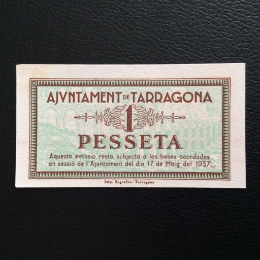 1 PESETA 1937 - AJUNTAMENT DE TARRAGONA - PLANCHA SIN CIRCULAR  [1]