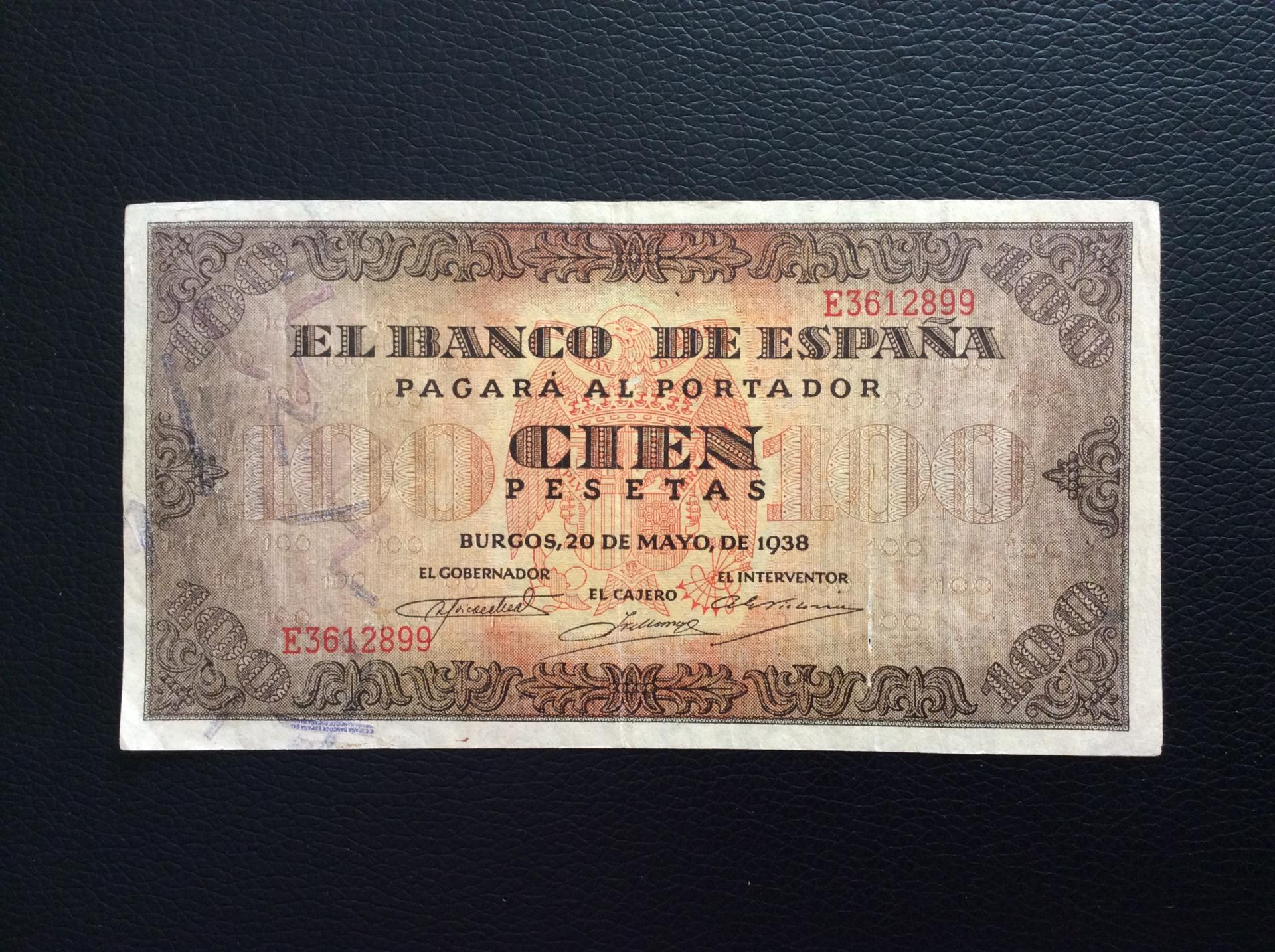 100 PESETAS 1938 - GUERRA CIVIL