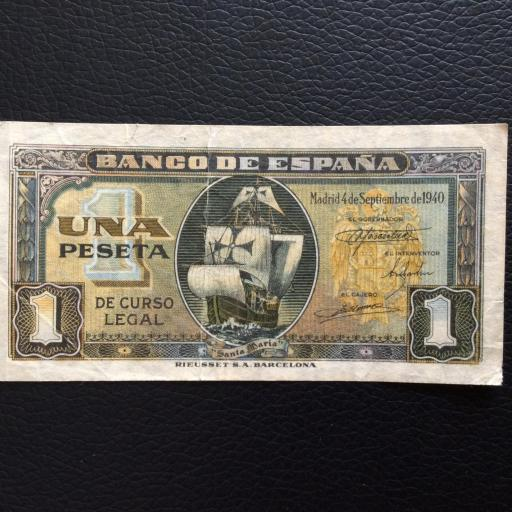 1 PESETA 1940 - CARAVELA