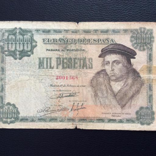 1000 PESETAS 1946 - LUIS VIVES