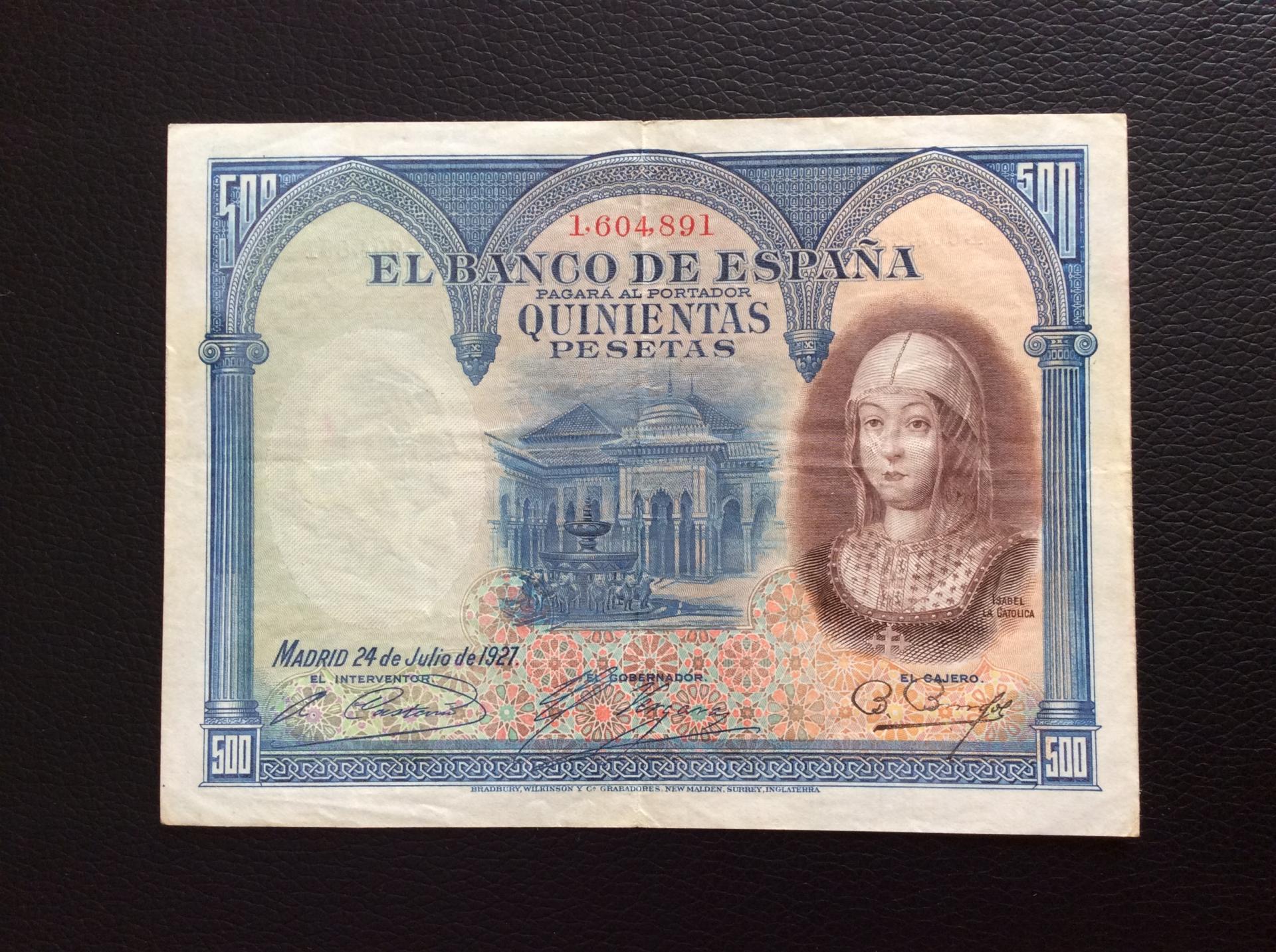 500 PESETAS 1927 - ISABEL LA CATÓLICA