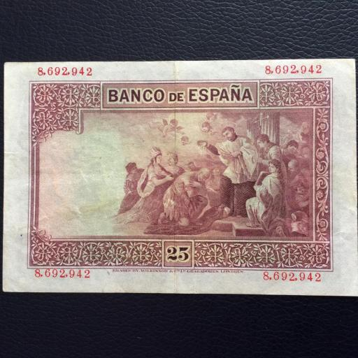 25 PESETAS 1926 - SIN SERIE - SAN JAVIER  [1]