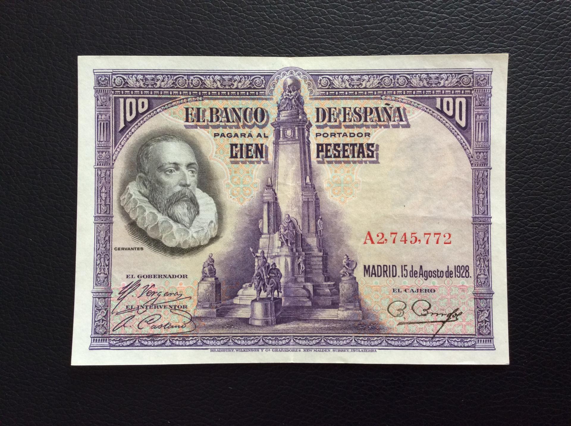 100 PESETAS 1928 - CERVANTES