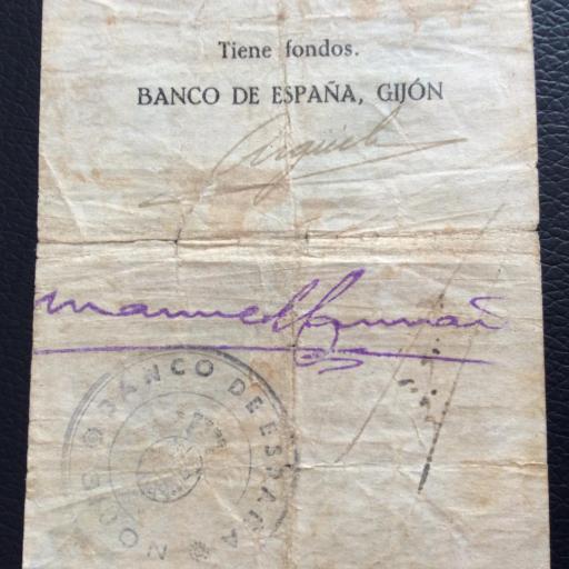 25 PESETAS 1936 - BANCO DE ESPAÑA GIJÓN  [3]