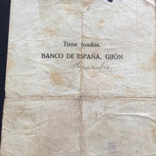 100 PESETAS 1936 - BANCO DE ESPAÑA GIJÓN  [3]