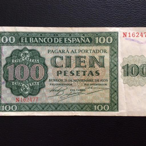 100 PESETAS 1936 - GUERRA CIVIL ESPAÑOLA - BURGOS