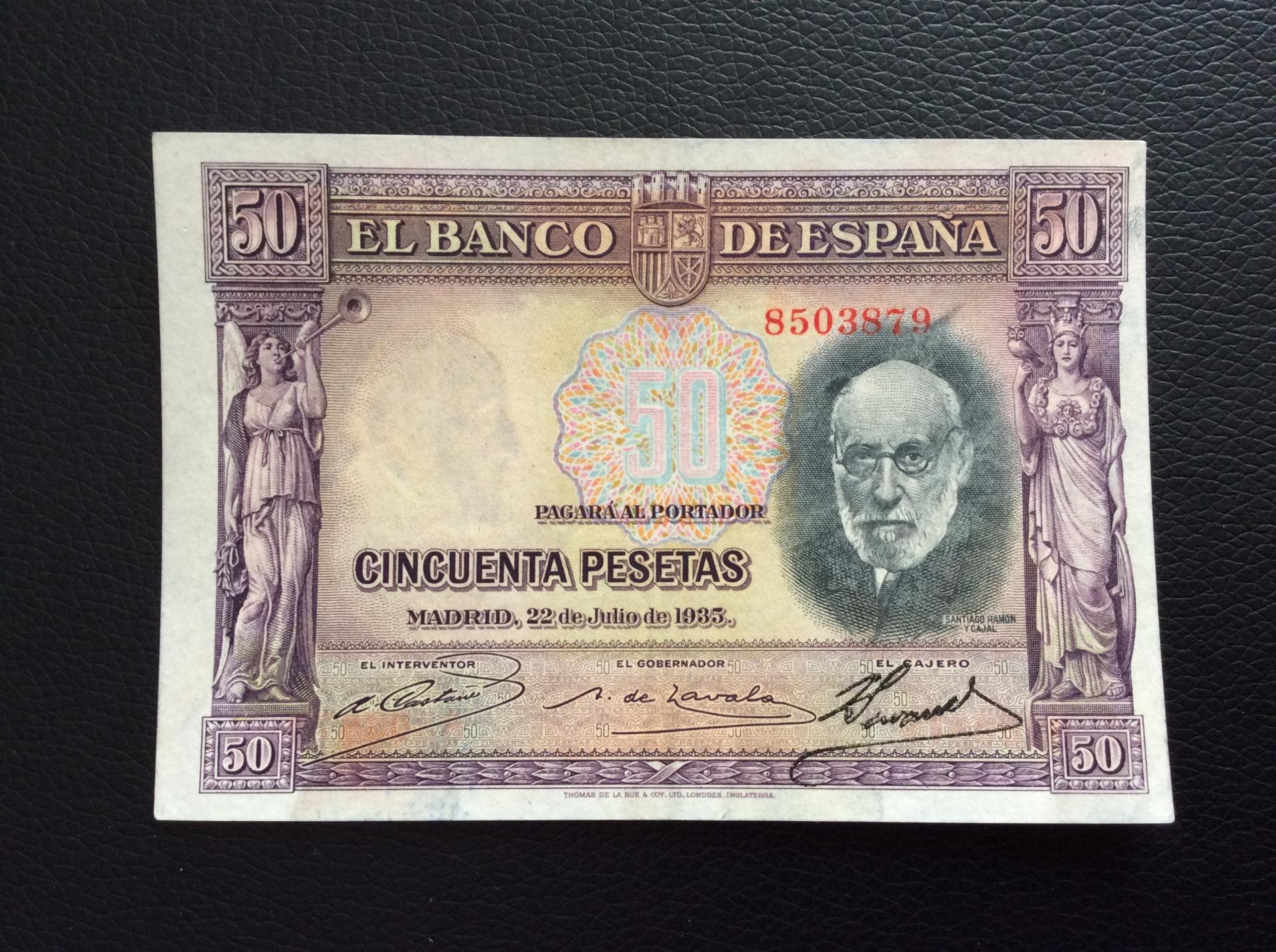 50 PESETAS 1935 - RAMÓN Y CAJAL - EXCELENTE CONSERVACIÓN