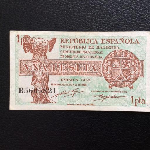 1 PESETA 1937 - MINISTERIO DE HACIENDA - MADRID - PLANCHA  [0]