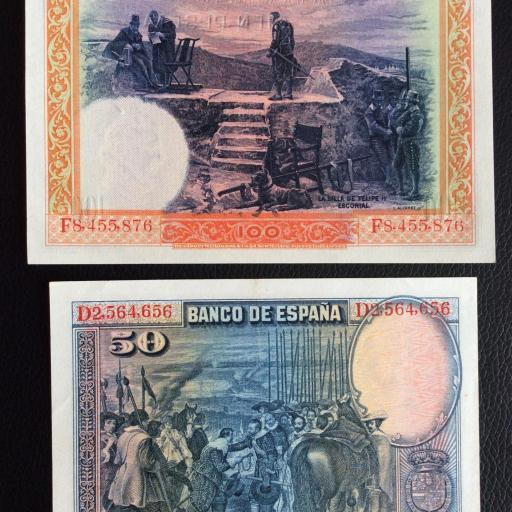LOTE 100 PESETAS 1925 + 50 PESETAS 1928  [1]