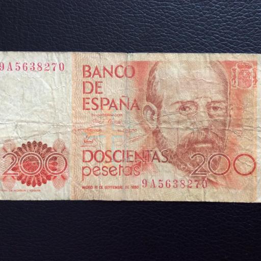 200 PESETAS 1980 - SERIE DE SUSTITUCIÓN 9A
