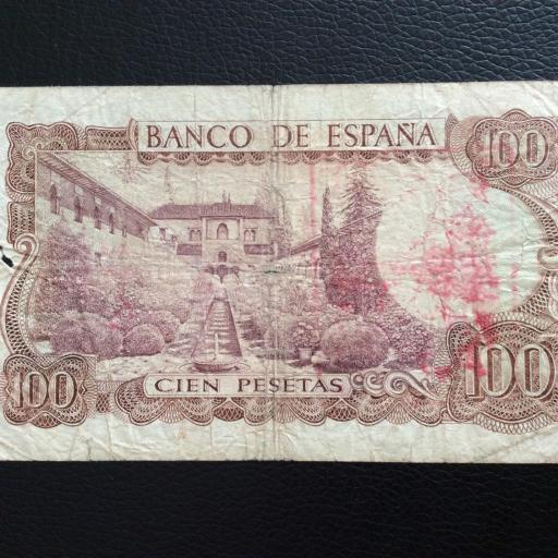 100 PESETAS 1970 - SELLO ROJO AGUILA DE SAN JUAN  [1]