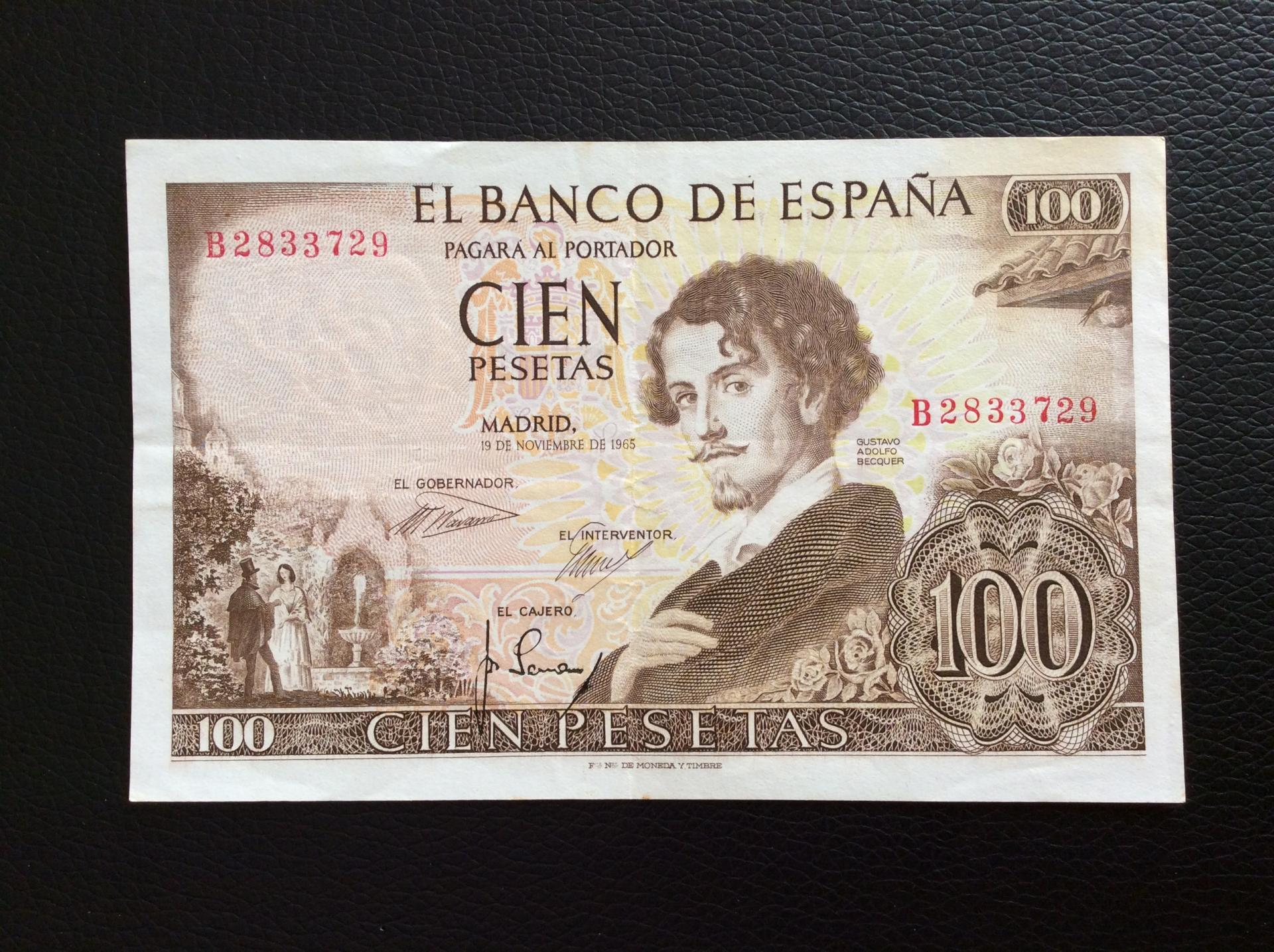 100 PESETAS 1965 -  QUEVEDO