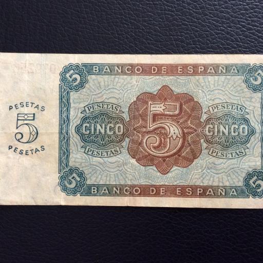5 PESETAS 1938 - BURGOS - GUERRA CIVIL ESPAÑOLA  [1]