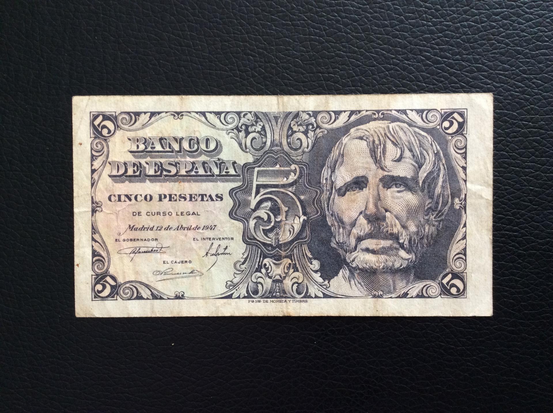 5 PESETAS 1947 - SENECA