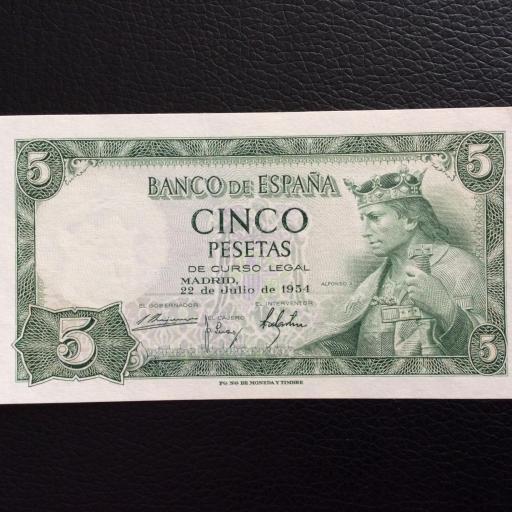 5 PESETAS 1954 - ALFONSO X EL SABIO - PLANCHA