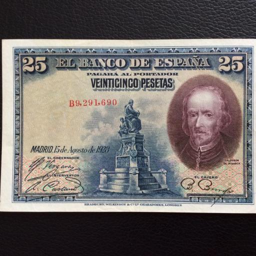 25 PESETAS 1925 - CALDERÓN DE LA BARCA - EBC +