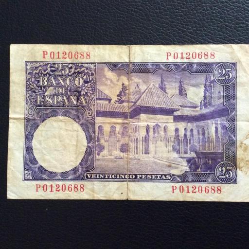 25 PESETAS 1954 - ESCASA SERIE P - ISAAC ALBENIZ  [1]