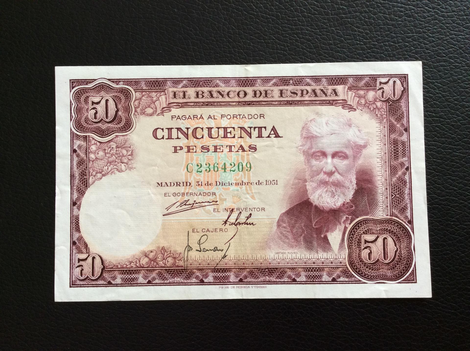 50 PESETAS 1951 - SANTIAGO RUSIÑOL