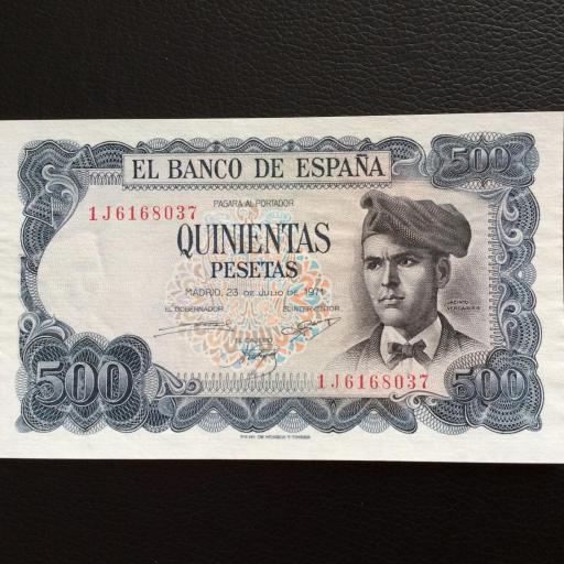 500 PESETAS 1971 - JACINTO VERDAGUER - PLANCHA
