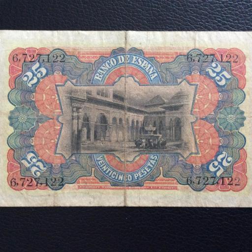 25 PESETAS 1907 - ALEGORÍAS - REINADO ALFONSO XIII [1]