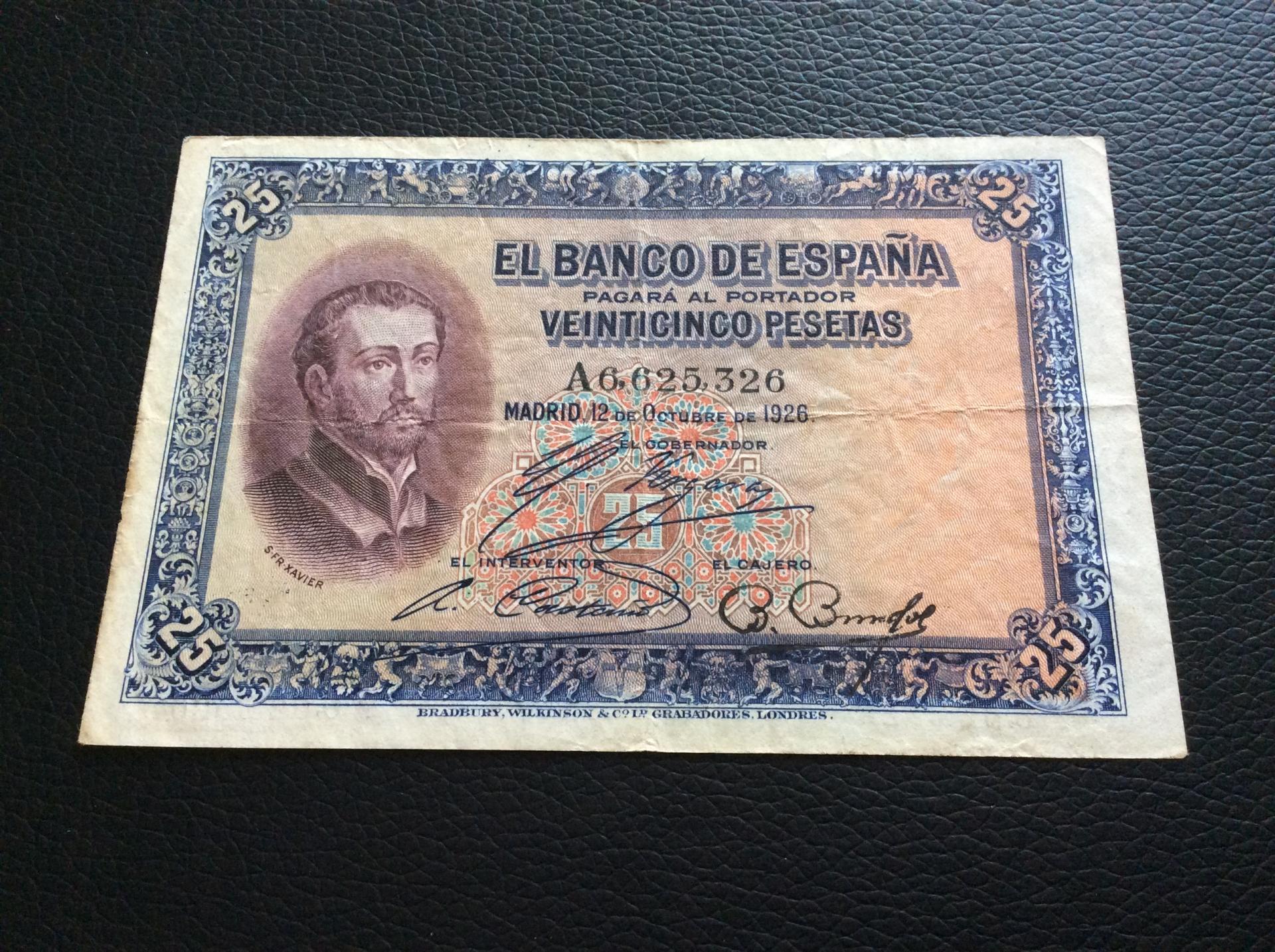 25 PESETAS 1926 - SAN JAVIER - SERIE A