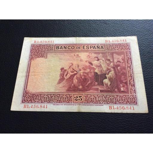 25 PESETAS 1926 - SAN JAVIER - SERIE B [1]