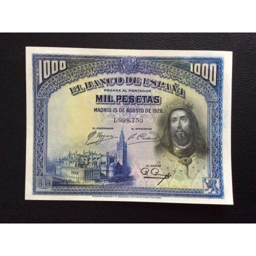 1000 PESETAS 1928 - SAN FERNANDO - PLANCHA SIN CIRCULAR