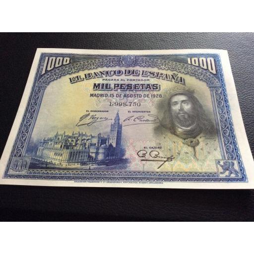 1000 PESETAS 1928 - SAN FERNANDO - PLANCHA SIN CIRCULAR [2]