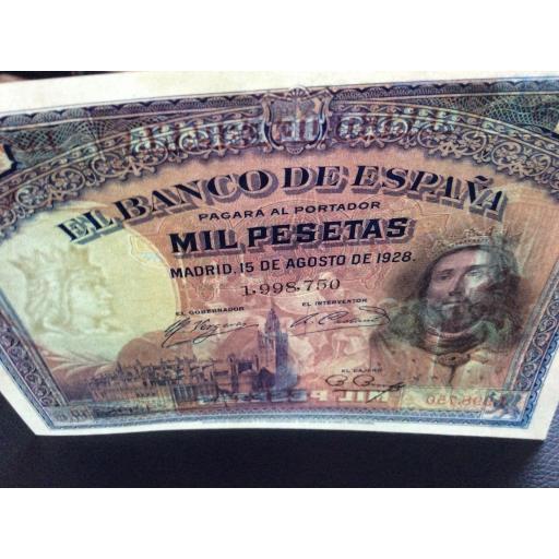 1000 PESETAS 1928 - SAN FERNANDO - PLANCHA SIN CIRCULAR [3]