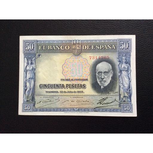 50 PESETAS 1935 - RAMÓN Y CAJAL - AZUL