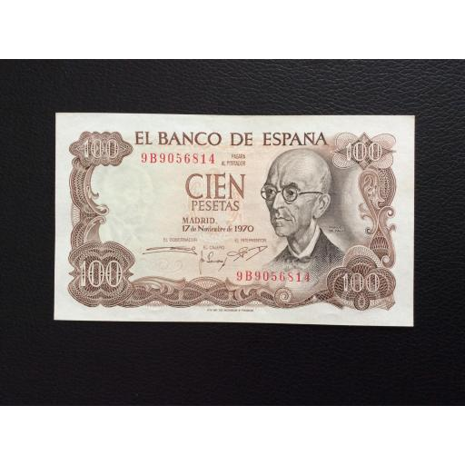 100 PESETAS 1970 -SERIE DE SUSTITUCIÓN 9B - MANUEL DE FALLA - PLANCHA