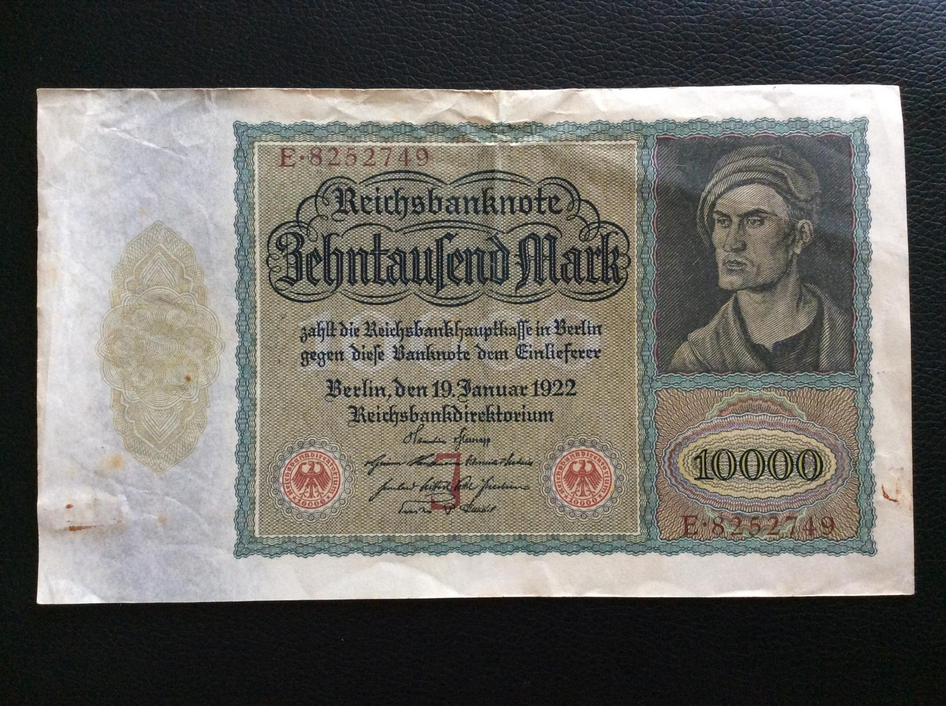 10.000 MARK 1922 - BERLÍN ALEMANIA - REICHSBANKNOTE