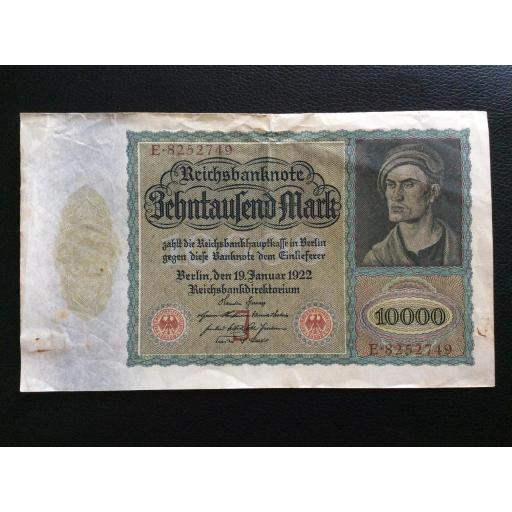 10.000 MARK 1922 - BERLÍN ALEMANIA - REICHSBANKNOTE