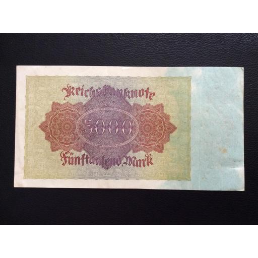 5.000 MARK 1922 - BERLÍN ALEMANIA - REICHSBANKNOTE  [1]