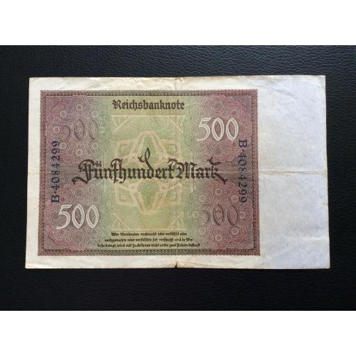 500 MARK 1922 - BERLÍN ALEMANIA - REICHSBANKNOTE [1]
