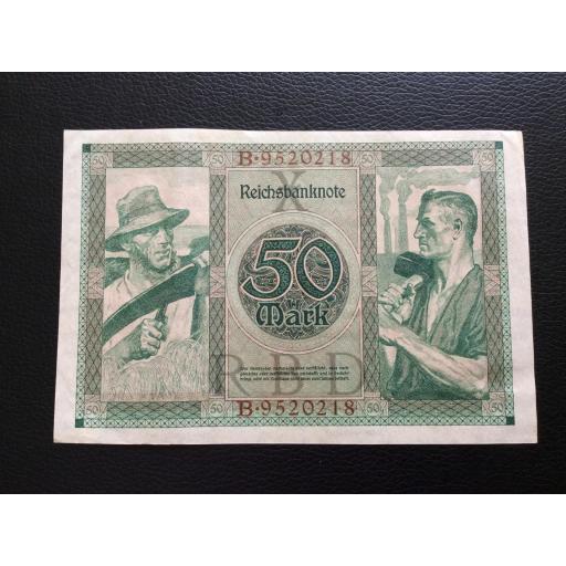 50 MARK 1920 - BERLÍN ALEMANIA - REICHSBANKNOTE  [1]