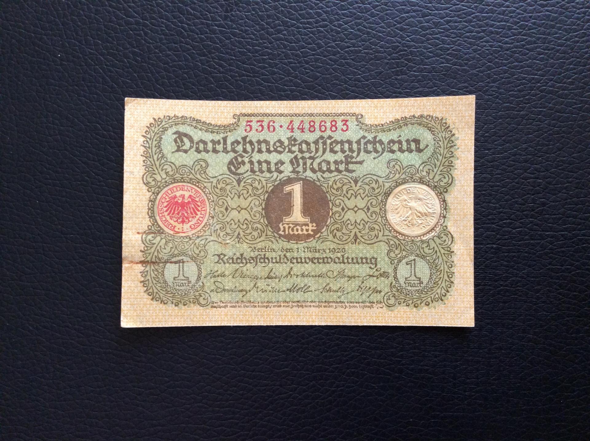 1 MARK 1920 - BERLÍN ALEMANIA - REICHSBANKNOTE