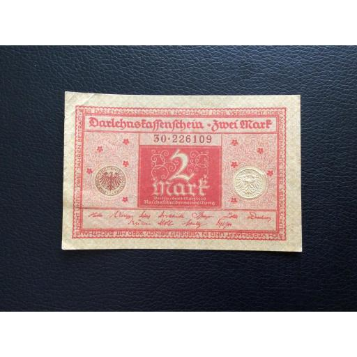 2 MARK 1920 - BERLÍN ALEMANIA - REICHSBANKNOTE