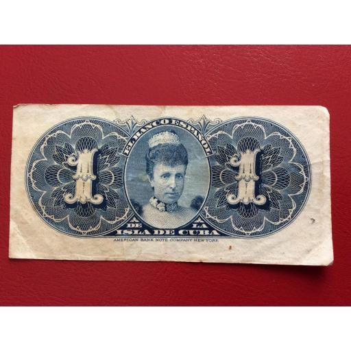 1 PESO 1896 - ISLA DE CUBA - COLONIAS DE ULTRAMAR  [2]