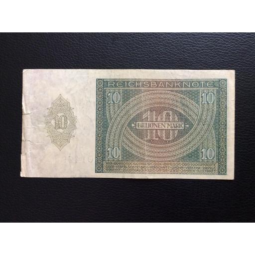 10 BILLIONEN MARK 1924 - BERLÍN ALEMANIA - REICHSBANKNOTE [1]