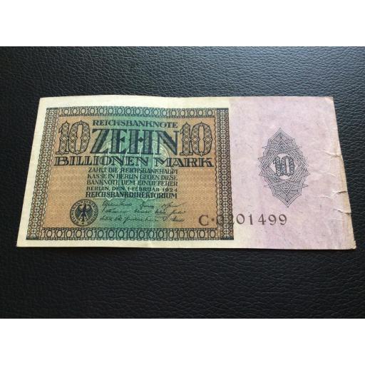 10 BILLIONEN MARK 1924 - BERLÍN ALEMANIA - REICHSBANKNOTE [2]
