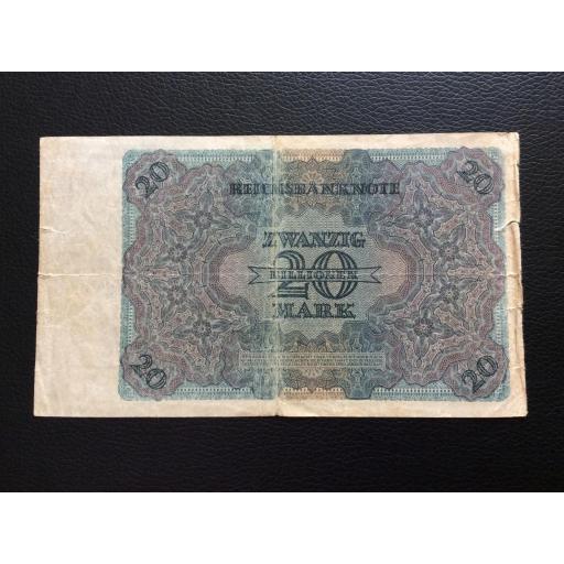 20 BILLIONEN MARK 1924 - BERLÍN ALEMANIA - REICHSBANKNOTE  [2]