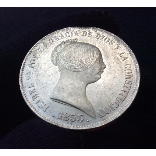 20 REALES 1855 - ISABEL II - MADRID