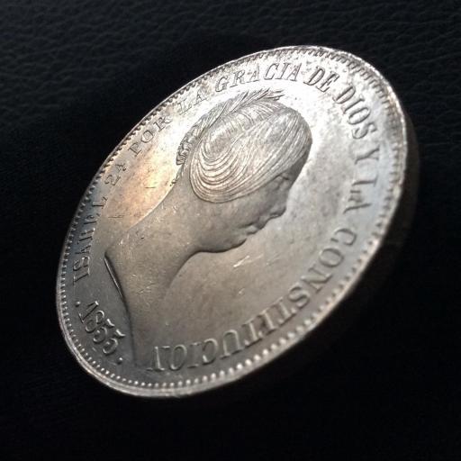 20 REALES 1855 - ISABEL II - MADRID  [2]