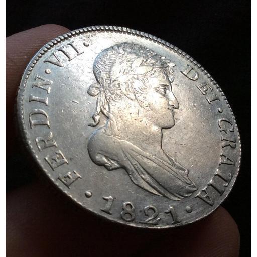 ESCASOS 8 REALES 1821 GUATEMALA NG - FERNANDO VII