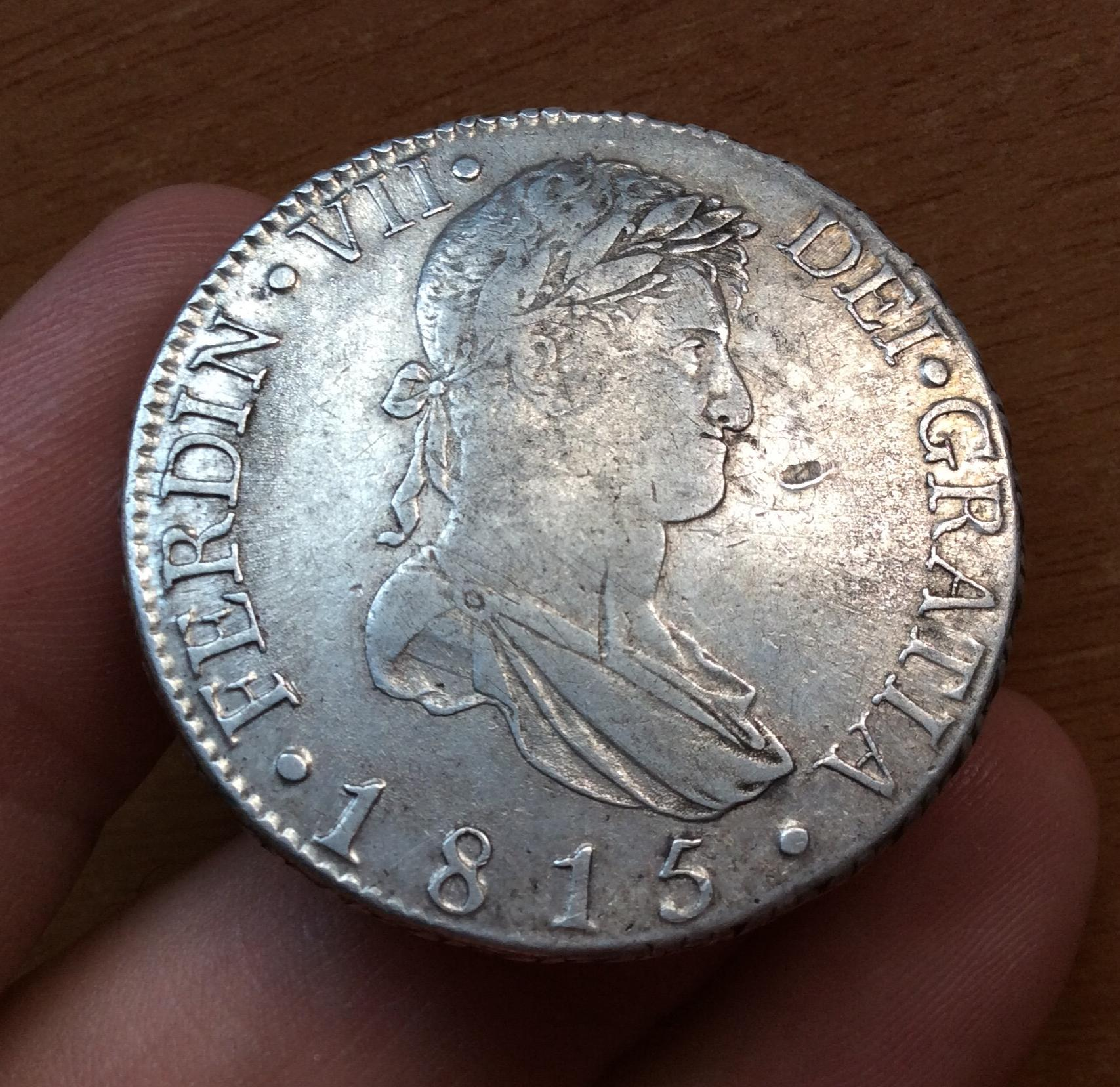 ESCASOS 8 REALES  1815 - CECA PENINSULAR - MADRID - FERNANDO VII