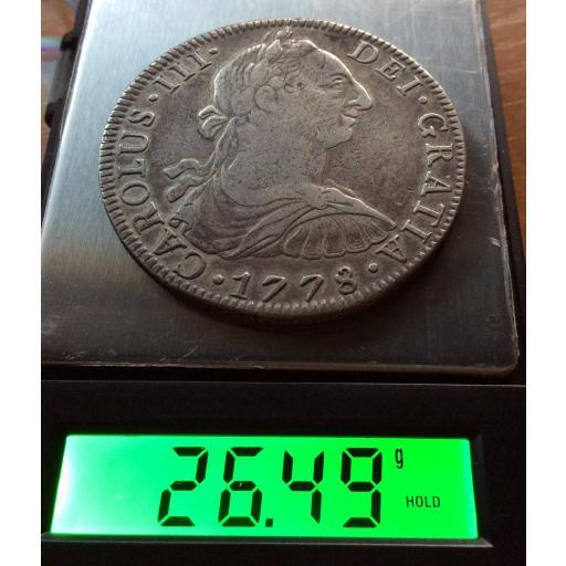 8 REALES 1778 - CARLOS III - MÉXICO  [2]