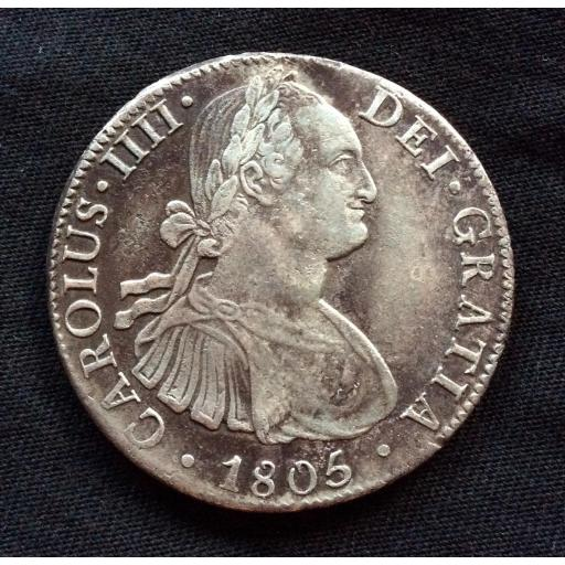 8 REALES PLATA 1805 - CARLOS IV - MEXICO [1]