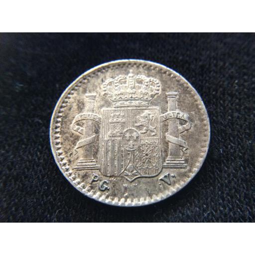 ESCASOS 5 CENTAVOS DE PESO DE 1896 - ISLA DE PUERTO RICO - COLONIAS  [1]